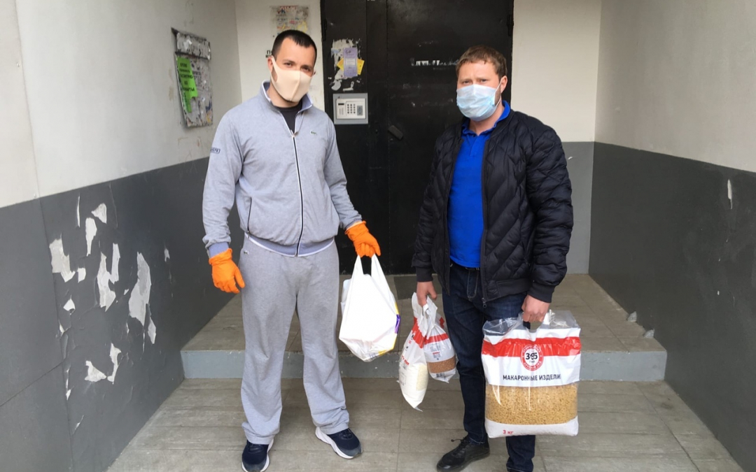 Сторонники Движения ЗА ПРАВДУ в Иркутске помогают пожилым людям с доставкой продуктов