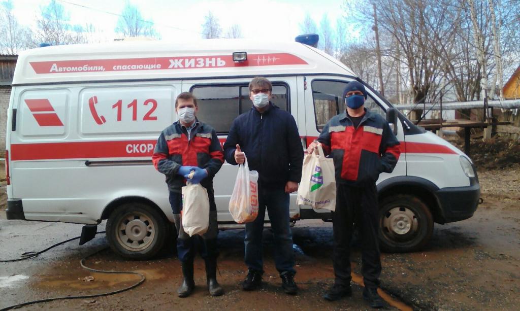 Добровольцы Движения ЗА ПРАВДУ в Перми передали продукты работникам ЦРБ города Очёра 1
