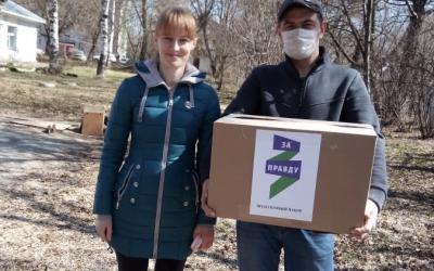 Добровольцы ЗА ПРАВДУ в Кирове помогли многодетной маме с продуктами