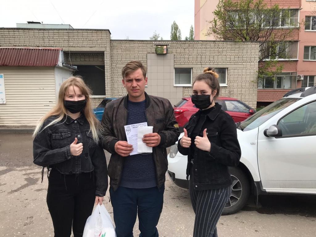 Добровольцы Движения ЗА ПРАВДУ раздали маски на улицах Тамбова 1