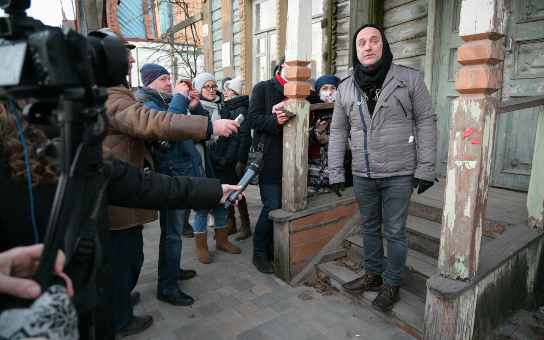 Захар Прилепин открыл градозащитную мастерскую в Рязани