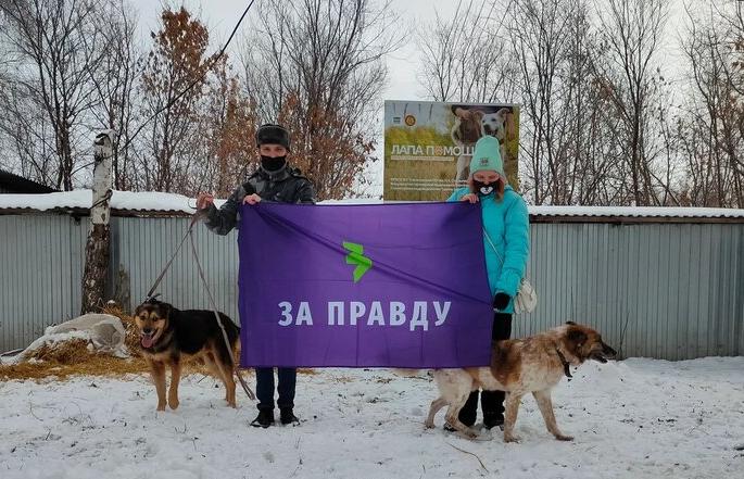 Ульяновский активисты ЗА ПРАВДУ поддержали  «Лапу помощи»