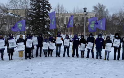 Жители Барнаула поддержали пикеты ЗА ПРАВДУ против повышения тарифов на электроэнергию в Алтайском крае