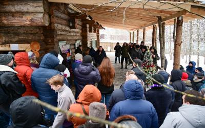 Новогодний праздник на Хуторе Захара Прилепина