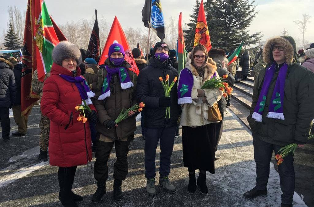 Митинг по случаю годовщины вывода войск из Афганистана в Казани