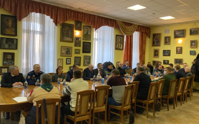 Гвардия Захара Прилепина на круглом столе «Вопросы патриотического воспитания подрастающего поколения в Санкт-Петербурге»