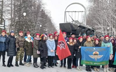Акция памяти десантников-уроженцев Башкортостана, погибших при исполнении воинского долга, в Уфе