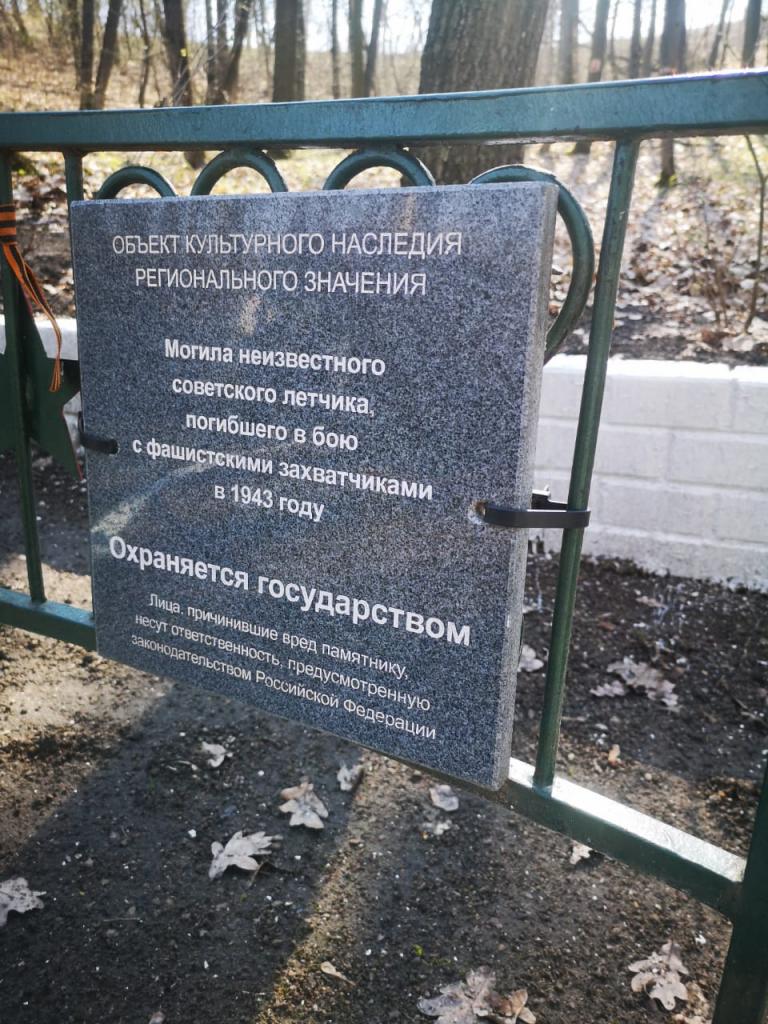 В день рождения Ленина белгородские активисты привели в порядок могилу неизвестного советского летчика 2