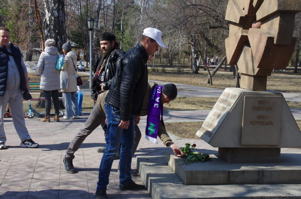 Движение Захара Прилепина в Новосибирской области почтило память погибших в радиационных авариях и катастрофах 7