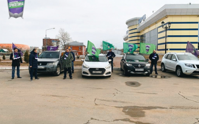 Саранские активисты отметили День космонавтики автопробегом