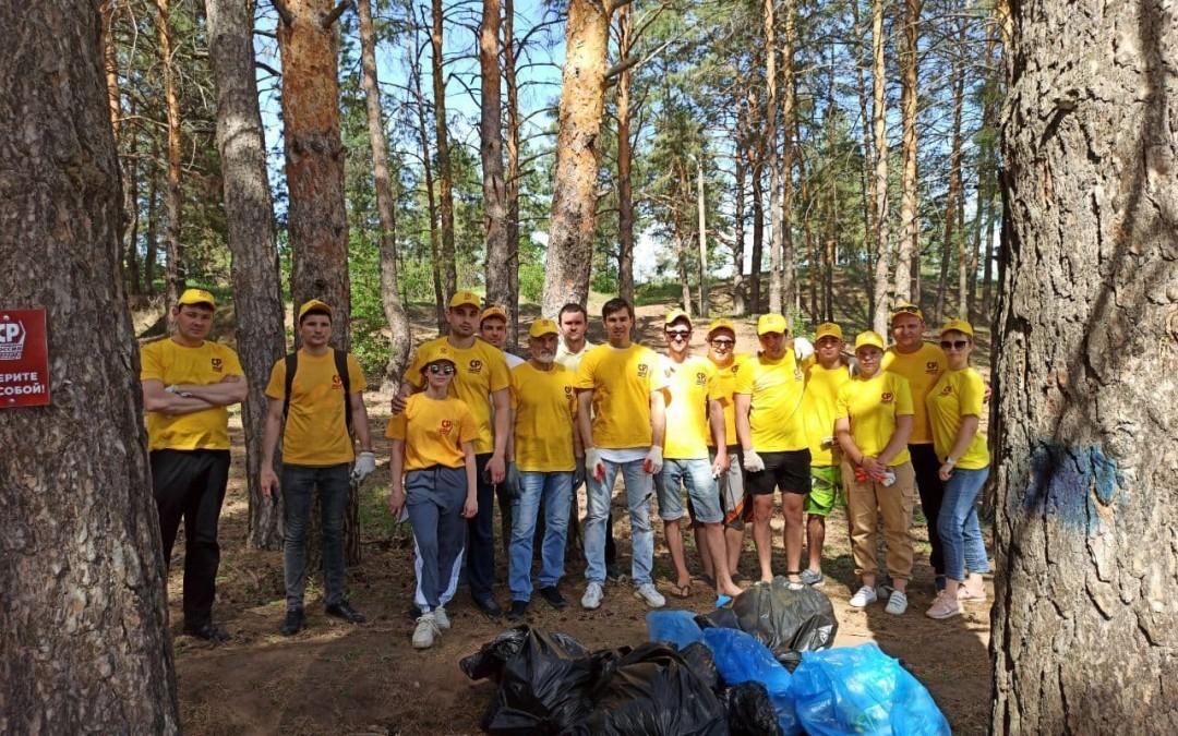 Сторонники СРЗП в Саратовской области провели субботник в Марксе