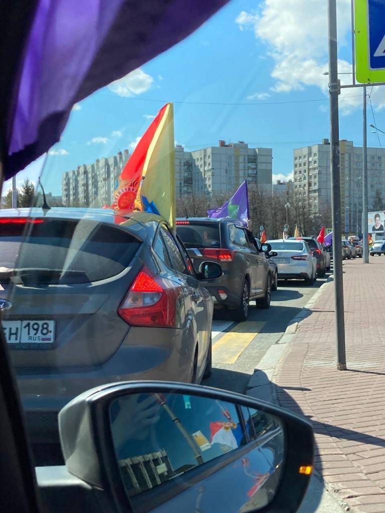 Автопробег в честь Победы в Санкт-Петербурге 2