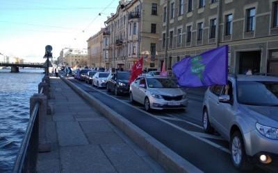 Автопробег в честь Победы в Санкт-Петербурге