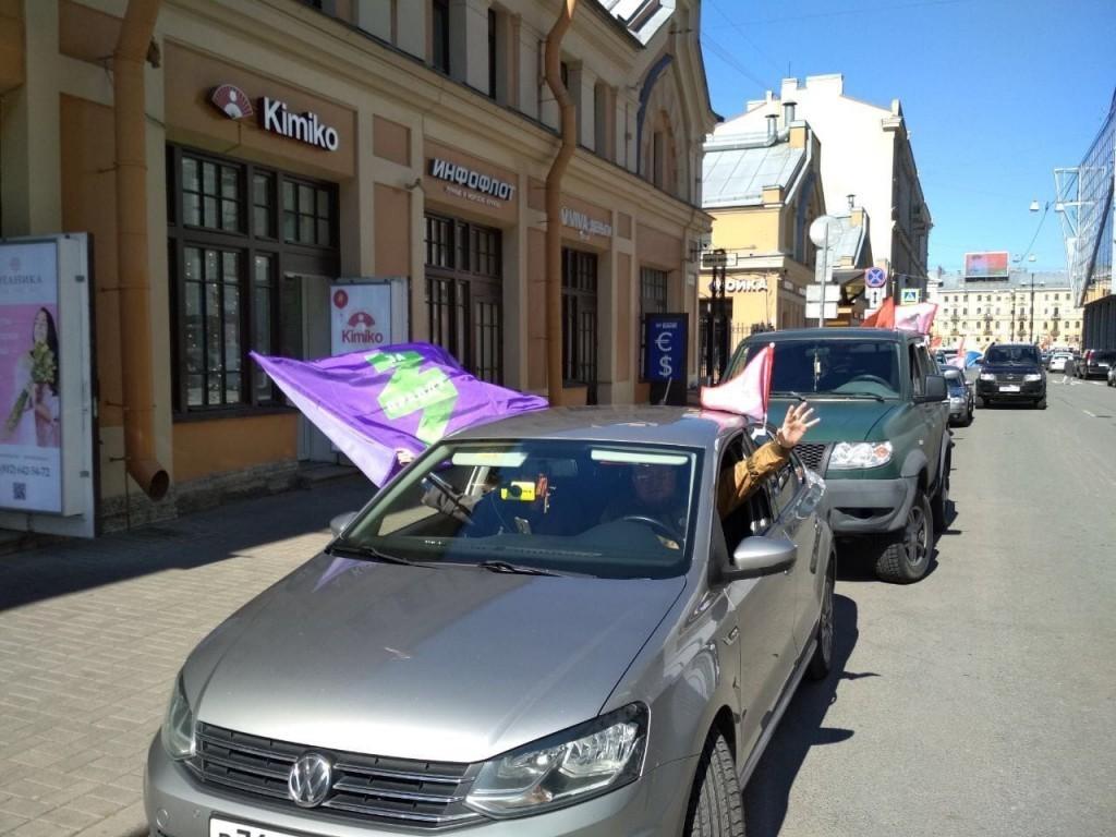 Автопробег в честь Победы в Санкт-Петербурге 4