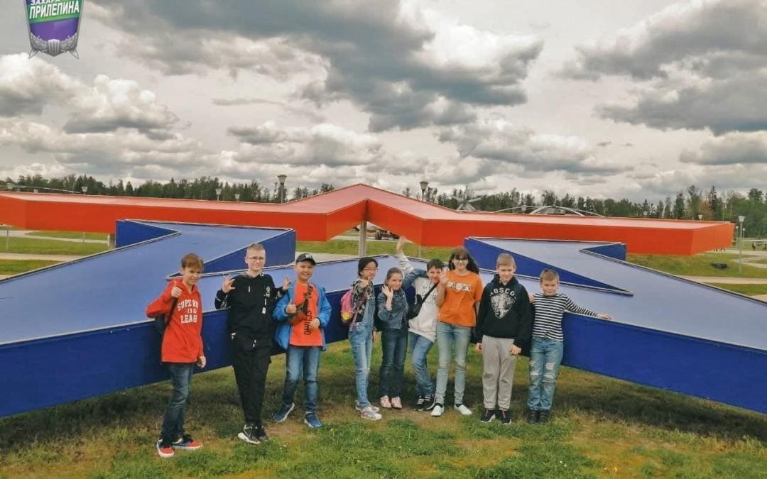 Гвардейцы отвели школьников в парк «Патриот»