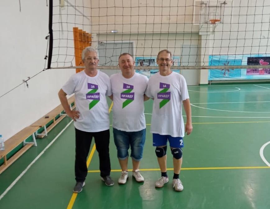 Движение Захара Прилепина провело тренировку по волейболу в Кольцово