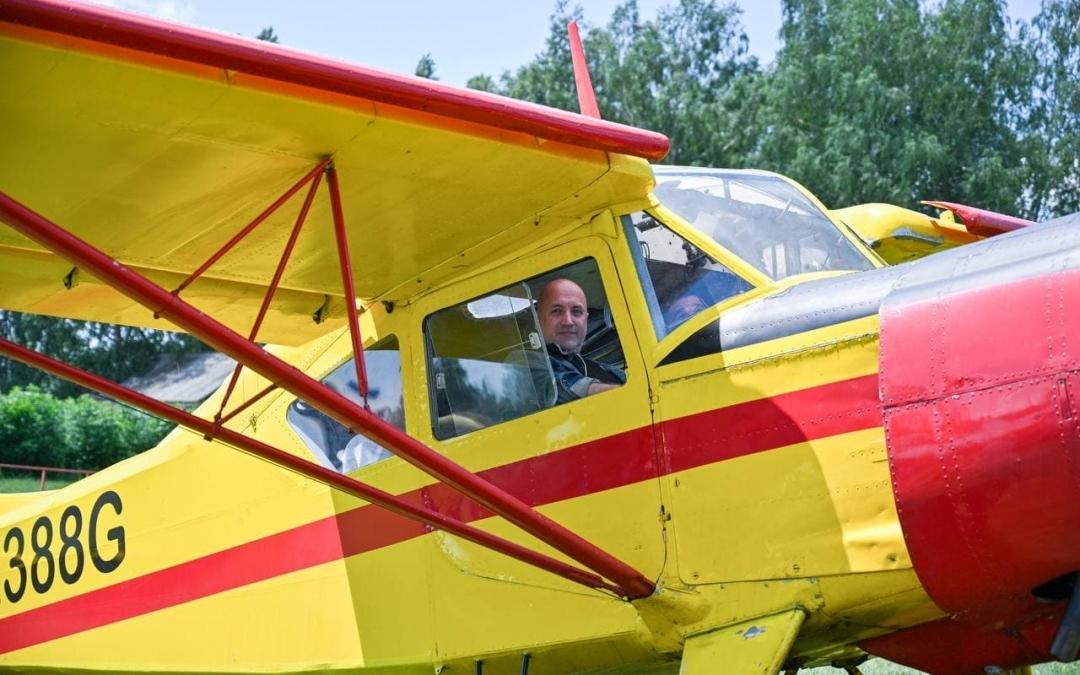 Развитие малой авиации поспособствует созданию единой народно-хозяйственной системы в России –Захар Прилепин совершил полет над Белгородом