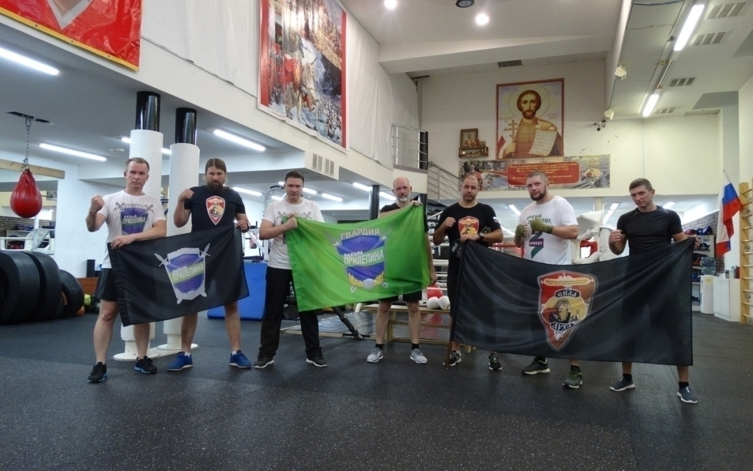 Гвардейцы Захара Прилепина приняли участие в  тренировках по боксу в Рязани
