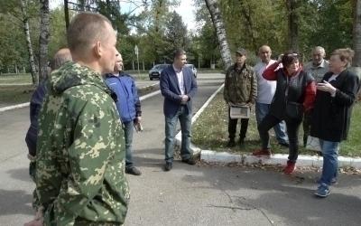 Региональное отделение партии СРЗП провели встречу с избирателями Дягилевского военного городка в Рязани